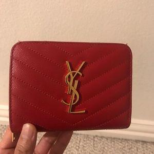 Red saint Laurent coin wallet Box/dust bag